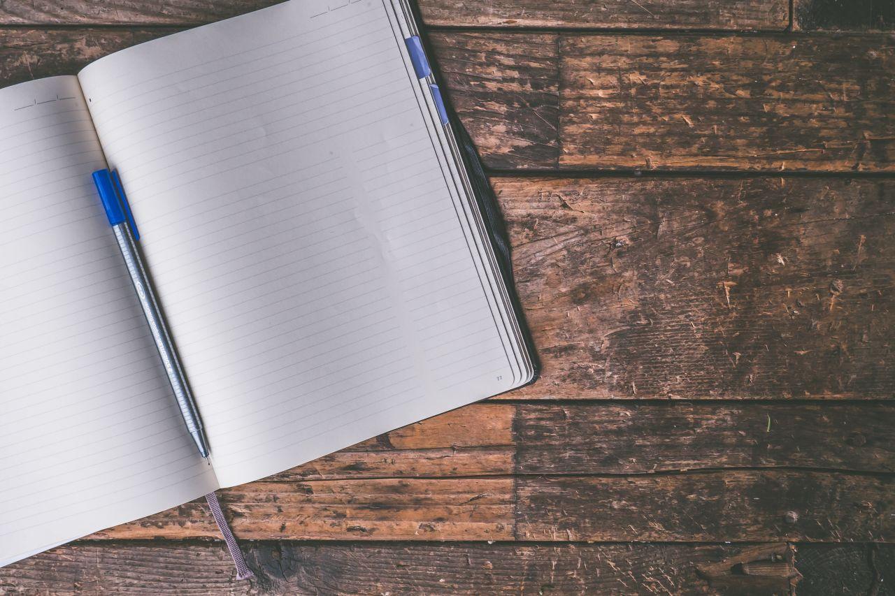 A journal writing book